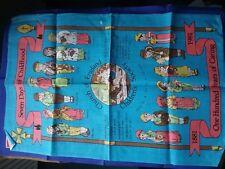 VINTAGE TEA TOWEL - CHURCH OF ENGLAND 1881-1981 - 100% PURE LINEN - BRAND NEW