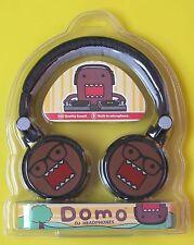 DOMO DJ HEADPHONES - Black, Domo wearing glasses Design - Pangea Brands - NEW