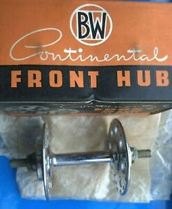 NEW OLD STOCK BOXED VINTAGE BAYLISS WILEY CONTINENTAL FRONT HUB,HIGH FLANGE,32H