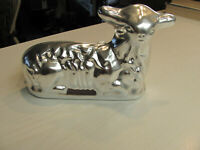Vintage Aluminum Lamb Sheep Cake Jello Candy Mold - 2 Piece Chocolate Mold
