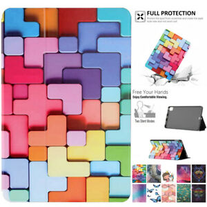 Smart Patterns Leather Cover Stand Case For iPad 5th 6th 7th 8th Mini Air Pro 11