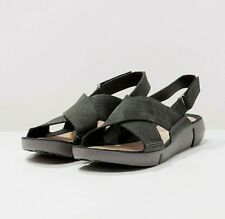 New Clarks Womens Sandals Leather size 5 Trigenic Light Casual Everyday Black