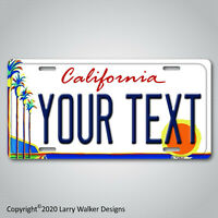 California Palm YOUR TEXT Personalized Custom Aluminum Vanity License Plate Tag
