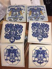 VINTAGE BURROUGHS WELLCOME BLUE/WHITE DELFT PHARMACY TILES