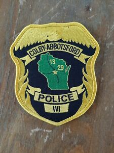 Colby-Abbotsford Wisconsin Police Sheriff Patch Old