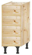 Solid Wood Kitchen Base unit 300mm wide with 4 drawers
