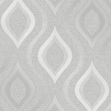Quartz Geometric Wallpaper Silver - Fine Decor FD41968 Glitter
