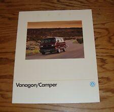 Original 1990 Volkswagen VW Vanagon / Camper Sales Brochure 90