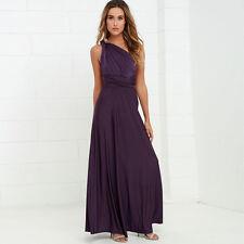 Women Bandage Multi Way Wrap Convertible Bridesmaid Long Maxi Dress 15 Colors