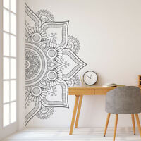 Mandala in Half Wall Sticker, Removable Wall Decal, Sticker for Meditation #10
