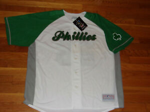 NWT PHILADELPHIA PHILLIES CHASE UTLEY BUTTON-FRONT BASEBALL JERSEY MENS 2XL