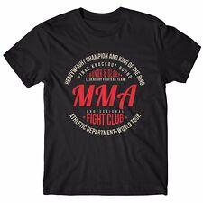 """T-SHIRT Uomo """"Mma Fight Club"""" - maglietta 100% cotone - NERO"""