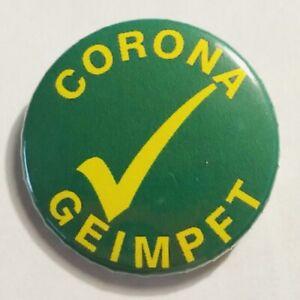 Corona geimpft Anstecknadel Plakette Button
