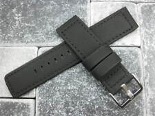 20mm PVC Composite Rubber Band Black Diver Watch Strap Kevlar Fabric Black