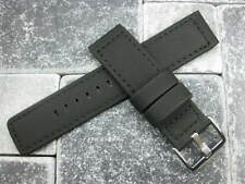 20mm PVC Composite Rubber Band Black Diver Watch Strap Kevlar Fabric Black X1