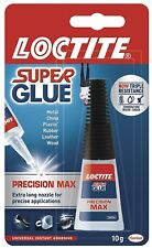 LOCTITE Super Glue 10g Bottle Precision Max Extra Long Nozzle Fast & Strong