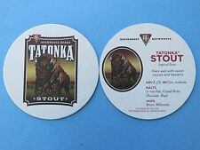 Beer COASTER: BJ'S Brewhouse Tatonka Stout ~ Buffalo in Field ~ Nationwide Chain