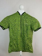 She Beest Woman's Cycling Jersey Size S Green/ Black  3 back pouches I0129-6
