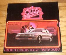 Original 1985 Oldsmobile Calais Firenza Cruiser Sales Brochure 85