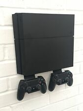 PS4 Wall Mount Bracket Kit In Black Including Brackets For Controllers