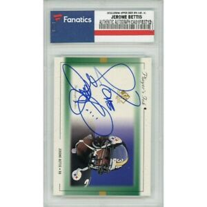 JEROME BETTIS Autographed Steelers/99 UD SP Authentic Card FANATICS