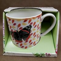 Lenox Butterfly Meadow Coffee Mug Cup You Are Awesome  black yellow pink orange