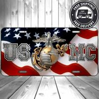 USMC American Eagle Globe Anchor Aluminum Flag Marine Corps License Plate U PICK