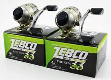 (Lot Of 2) Zebco 33 Micro Gold 4.3:1 Spincast Reel W/4Lb Line 10525-Zs4060