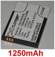 Batterie 1250mAh Pour CASIO C781, GzOne Ravine 2, type BTR781 BTR781B