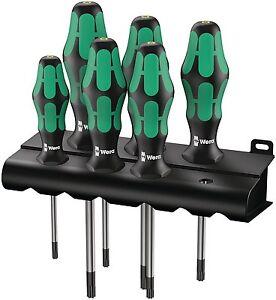 WERA 6 Piece T10-T40 Kraftform 367 Ergonomic Torx TRX Tip Screwdriver Set,028062