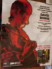 "23""x30� David Bowie Ziggy Stardust Album Release Release Ryko Poster Rare"