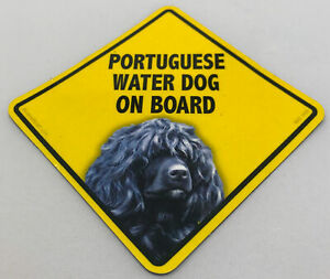 Portuguese Water  Dog On Board Magnet Laminated Car Pet Magnet NEW 6x6