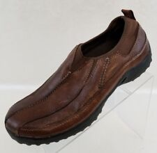 Red Head Loafers Bike Toe Brown Leather Slip On Mens Shoes Size 10.5M