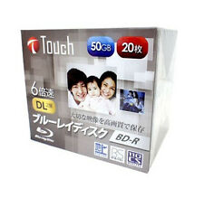 20pack Touch BD-R DL 50gb Blu ray Disc Dual Layer 6x dvd dl hd Import Japan