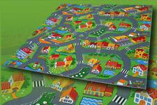 Straßenteppich Spielteppich Bauernhof 200x300 cm