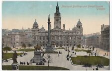 Glasgow; Municipal Buildings & George Square, Unposted, 1918