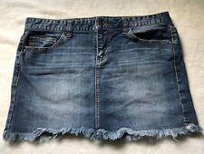 Calvin Klein Denim Mini Skirt Frayed 29/8