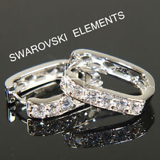 18K White Gold Filled Earrings made with Swarovski Crystal Valentine  Xmas E472