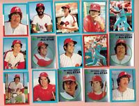 1982 O-PEE-CHEE Baseball Stickers . * PICK YOUR PLAYER *