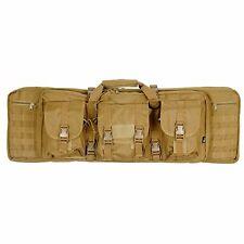 "Dual Rifle Bag Double AR15 M4 Carbine Gun Case Backpack Tan Tactical MOLLE 36"""