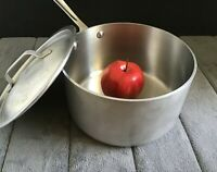 All-Clad MC2 Master Chef Sauce Pan 3.5 Quart Straight Sides w/ Wear-Ever Lid USA