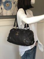 TIGNANELLO Dark Brown Pebbled Leather Satchel Shoulder Handbag Bag Purse EUC
