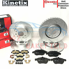 FOR VAUXHALL ASTRA H VXR 2.0T FRONT REAR PERFORMANCE BRAKE DISCS BREMBO PADS