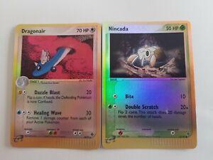Dragonair & Nincada Ex Dragon Pokemon Holo Cards TCG - RARE 2003 E READER