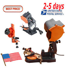 <US>Best Electric Chain Saw Sharpener Bench Wall Vise Mount Grinder Chainsaw CE
