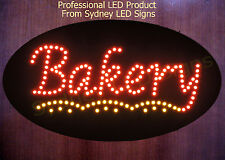 Animated LED NEON Motion Flash Business Open Sign BAKERY SIZE: 60CM X 30CM