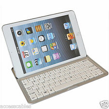 Aluminium Stand Bluetooth Keyboard Case Cover for iPad Mini 2  7.9""