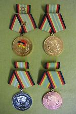 4 DDR Medaillen - Treue Dienste - Grenztruppen - 20 Jahre G - S - B - im Etui