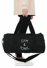 Gym & Tonic Barrel Gym Bag Duffel Fitness Slogan Yoga Weightlifting Spin Funny