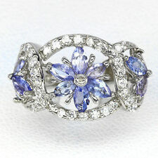 Tanzanite Marquise Band Fine Rings